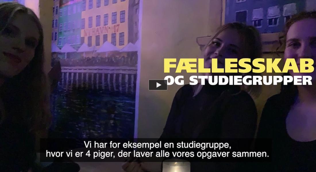 Dagbogsvideo om studiemiljøet på bacheloruddannelsen i biokemi